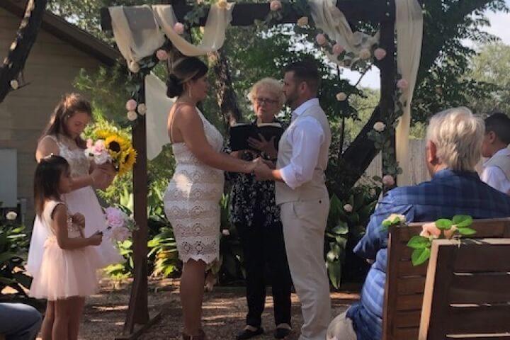Nancy Woods wedding officiant Texas